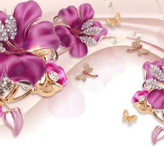 Фотошпалери Шикарні рожеві брошки 22572