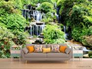 Фотообои водопад среди зелени - 1