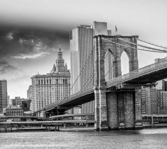 Фотообои Древний мост Бруклинский 9301