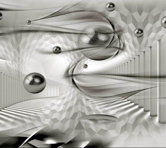 Фотообои Колонны и 3д сферы 28855