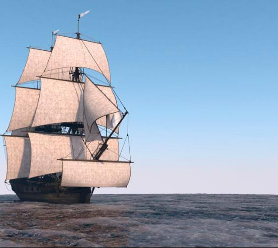 Фотообои Корабль на мели 9827