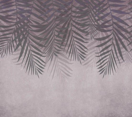 Фотошпалери Листя зі стелі на коричневому 24314