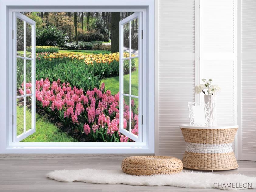 Фотообои Вид на цветы - 2