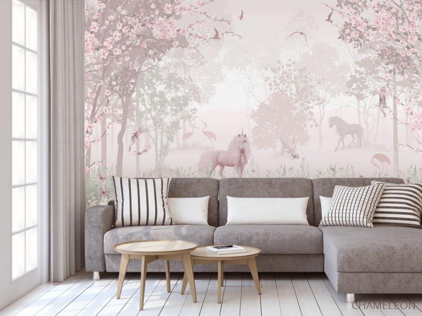 Фотообои Розовые единороги - 3