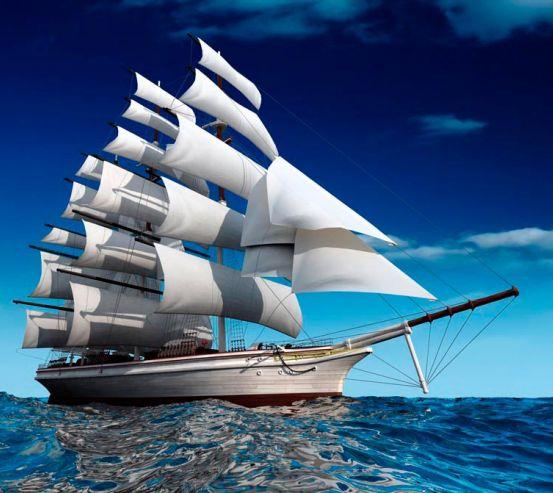 Фотообои Море и корабль 12907