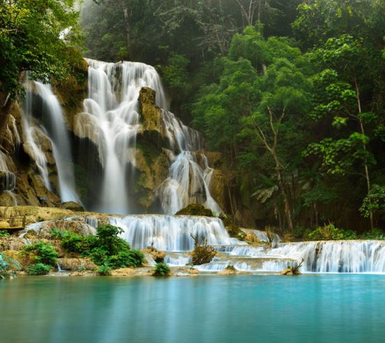 Фотообои Водопад и озеро 23360