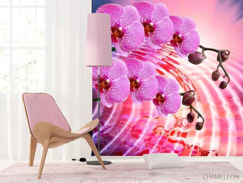 Фотообои Сиреневые распустившиеся орхидеи - 4