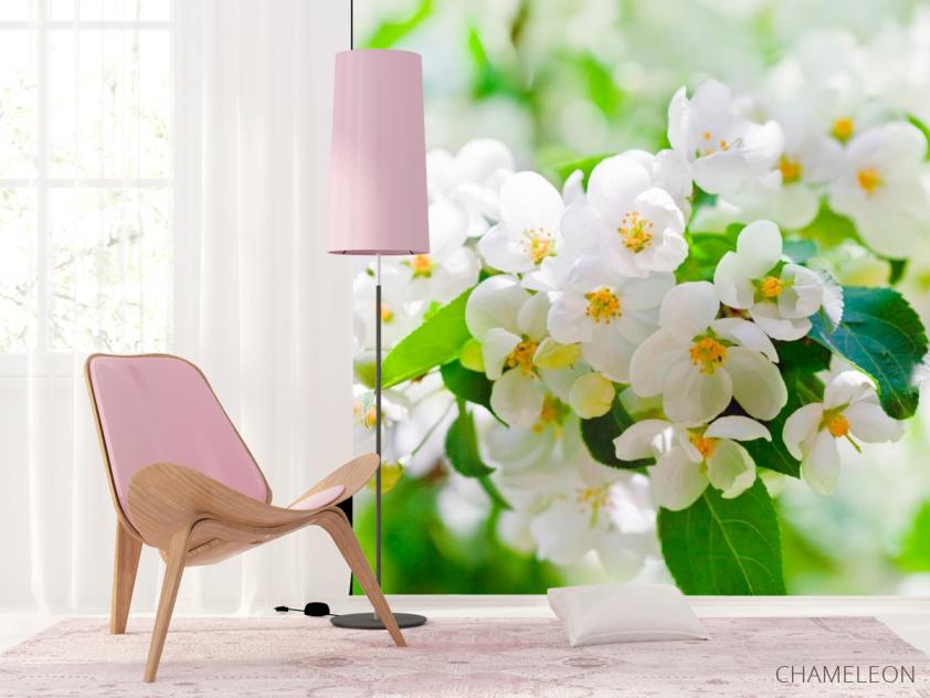 Фотообои Абрикосовые маленькие цветы - 4