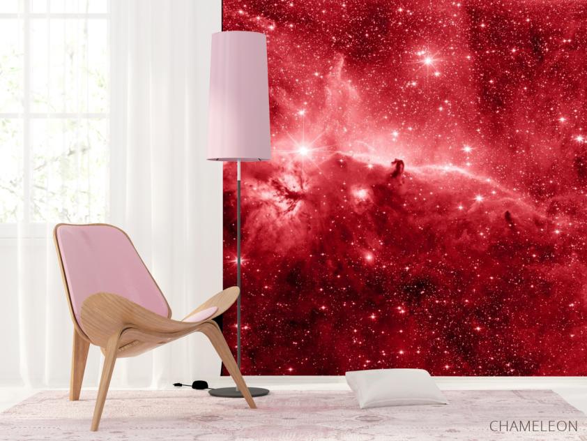 Фотообои красный космос - 4