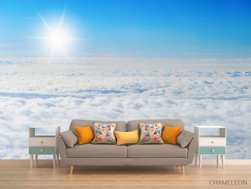 Фотообои солнце над облаками - 1