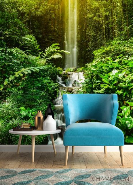 Фотообои водопад и лес - 4