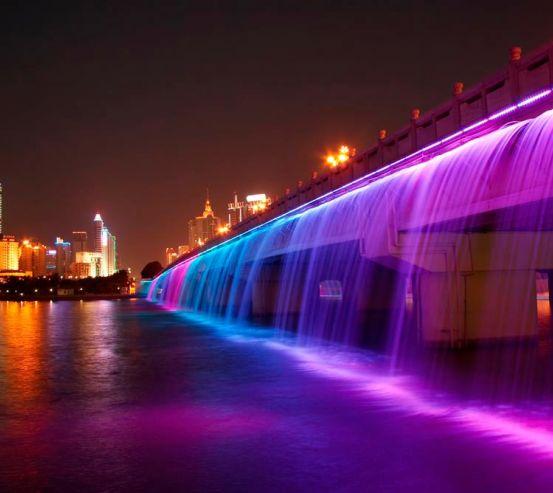 Фотообои Ночь мост цветомузыка 1937