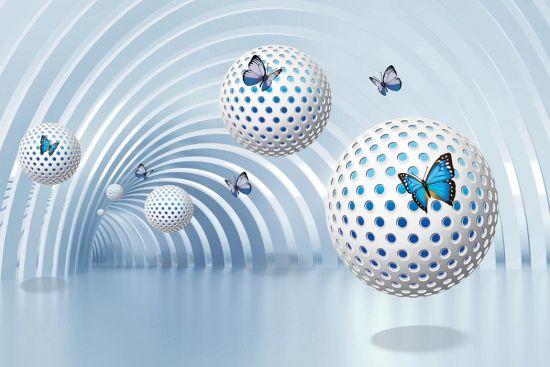 Фотообои Сферы с бабочками