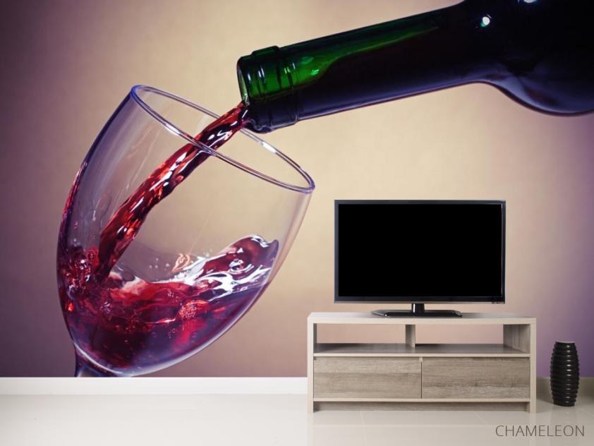 Фотообои красное вино в бокал - 2
