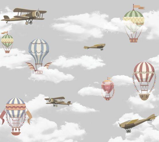 Фотошпалери Літаки і повітряні кулі 24088