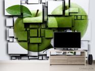 Фотообои яблоко на кубах 3Д - 2