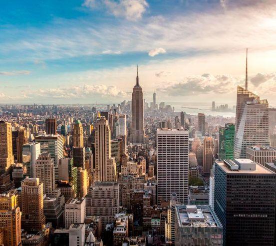 Фотообои Вид сверху город  13669