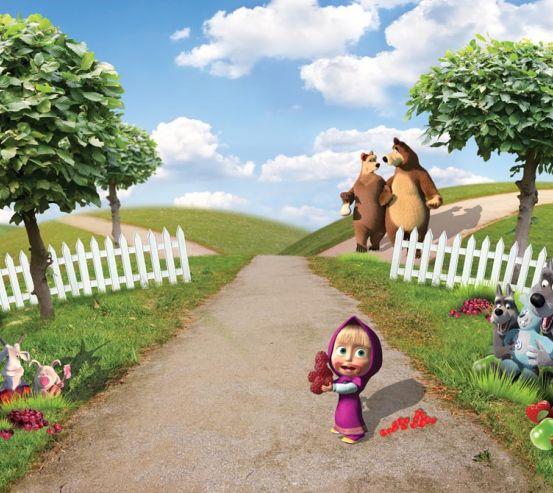 Фотообои Маша мучает Медведя 11336