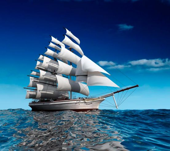Фотообои Фрегат о белых парусах 0639
