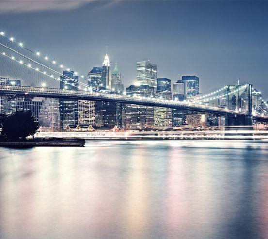 Бруклинский мост в огнях 22229