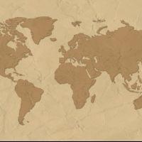 Материковая карта