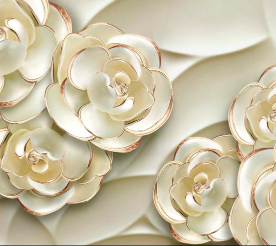 Фотообои Объёмные 3d цветы 18750