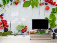 Фотообои ягоды на деревянном фоне - 2