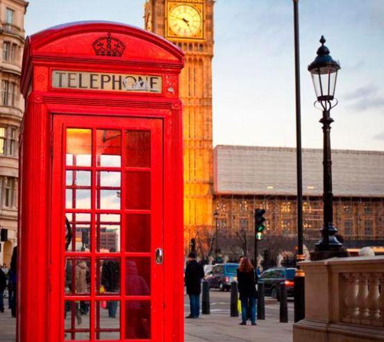 Фотообои Лондон, телефонная будка 3891