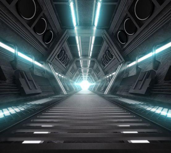 Фотошпалери Техно тунель 22750