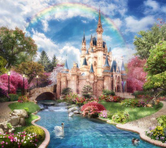 Фотообои Сказочный замок 18855