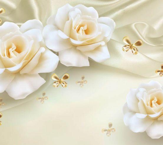 Фотообои 3д розы жёлтые 29180