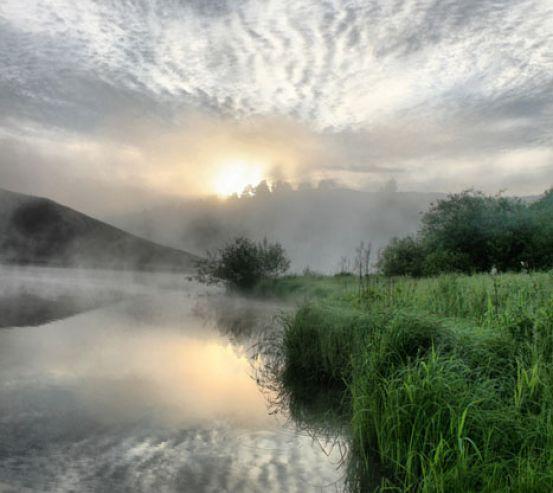Фотошпалери Туман на річці 12575