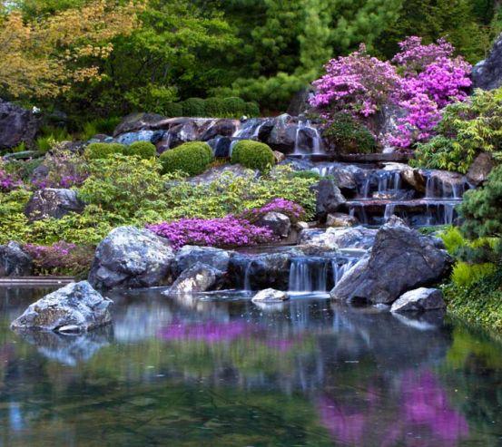 Фотообои Водопад, озерцо 1428