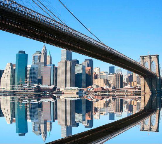Фотообои Мост, вода, дома  0004