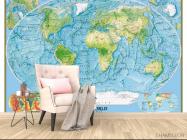 Фотообои Физическая карта мира - 4
