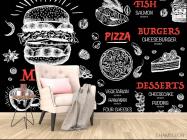 Фотообои Для бургерной/пиццерии - 4