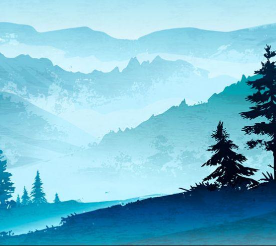 Фотообои Горы в скандинавском стиле 22712