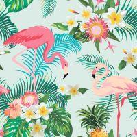 Фотообои с фламинго