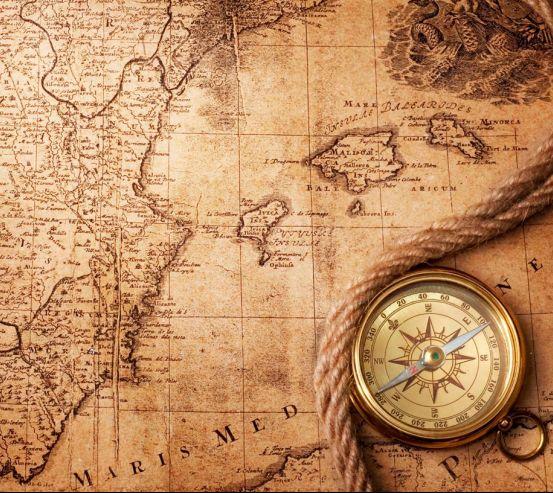 Фотообои Компас и карта мира 0302
