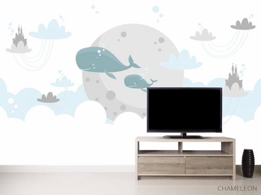 Фотообои Милые киты - 2