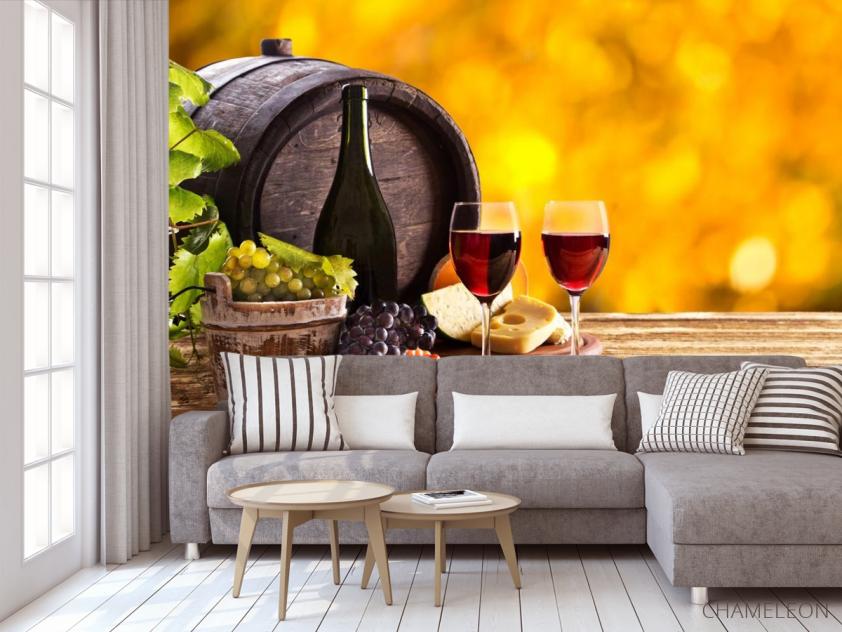 Фотообои вино в бочке - 3