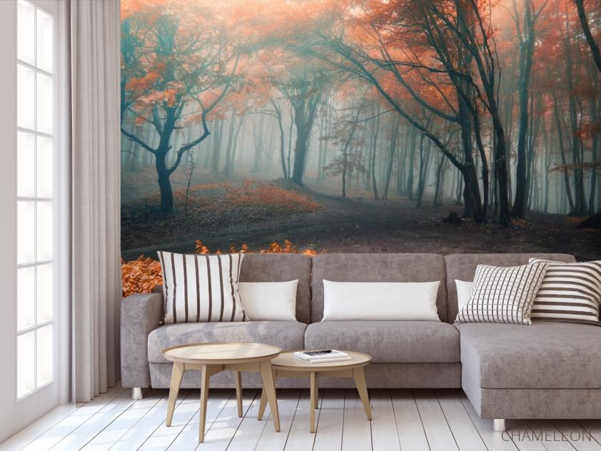 Фотообои осенний лес - 3