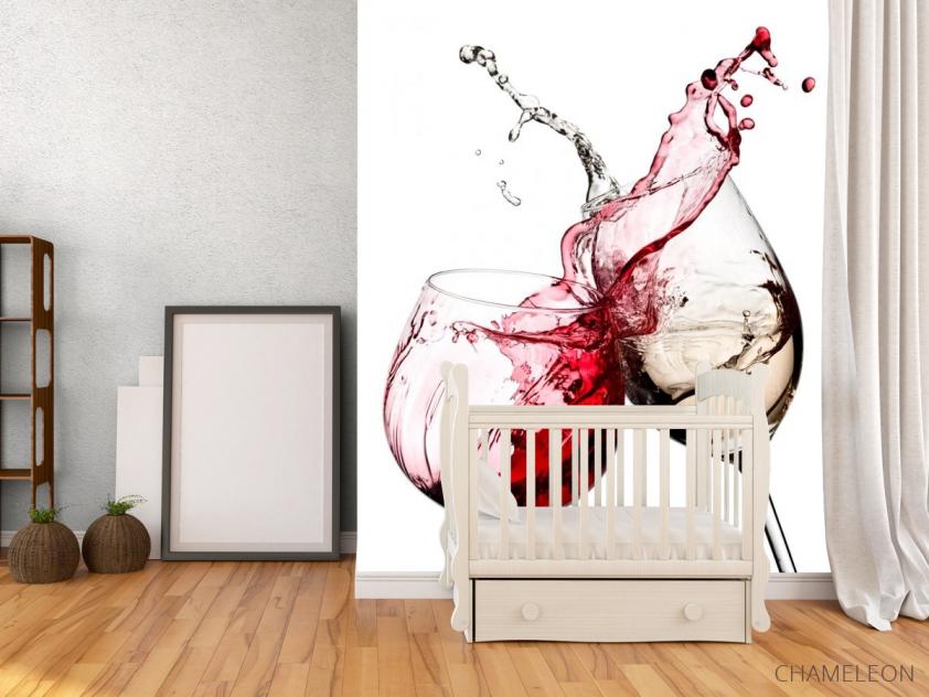 Фотообои красное и белое вино - 2
