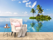 Фотообои остров в чистом океане - 4