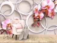 Фотообои Орхидеи 3д - 4