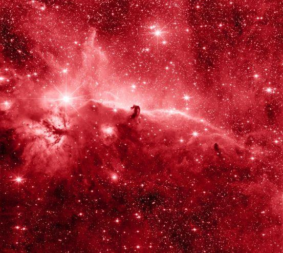 Фотообои красный космос 20425
