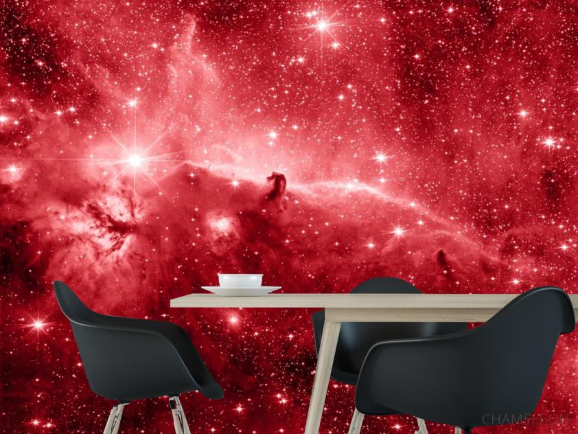 Фотообои красный космос - 1