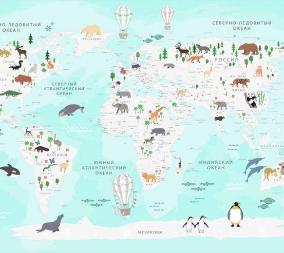 Фотообои Карта в детскую  24152