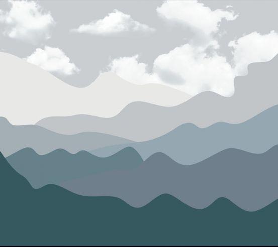Фотошпалери Сірі гори 24089