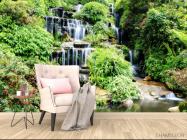 Фотообои водопад среди зелени - 4